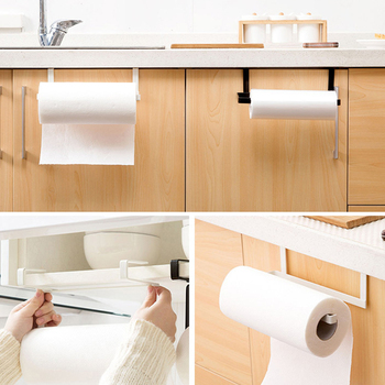 HOT SALE! Kitchen Toilet Roll Holder Stand Organizer Rack Cabinet Paper Towel Hanger Bathroom 1