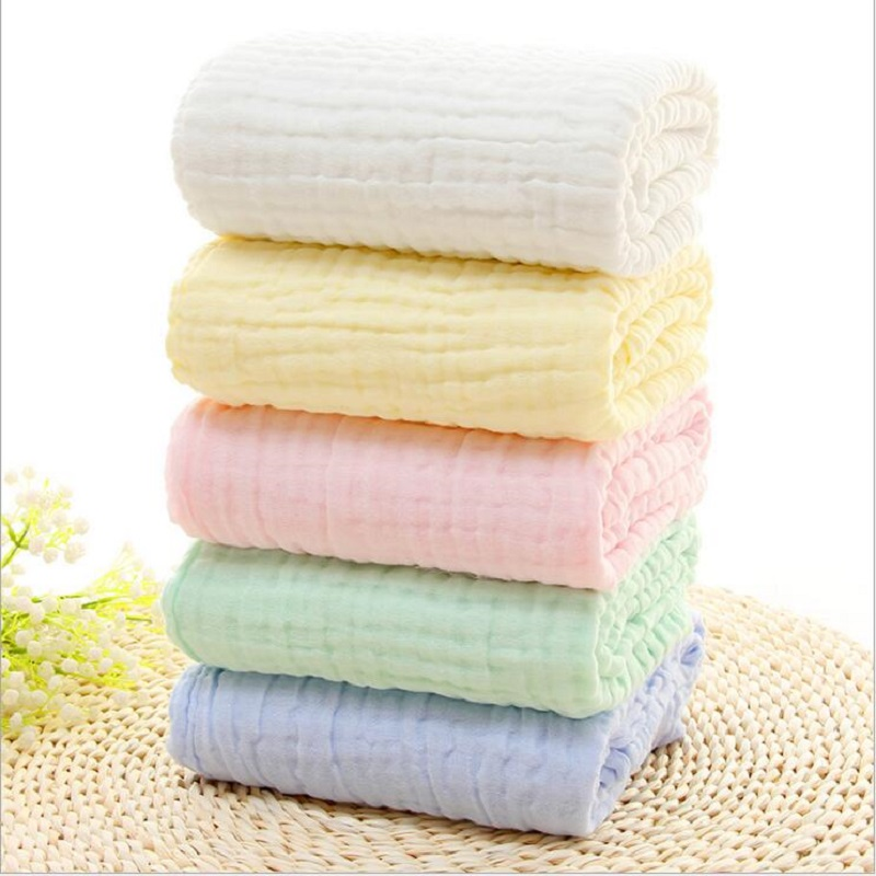 Baby Muslin Blankets Swaddling Six Layer 100% Cotton Swaddle Wrap For Newborn Babies Character Floral Printed Bath Towel