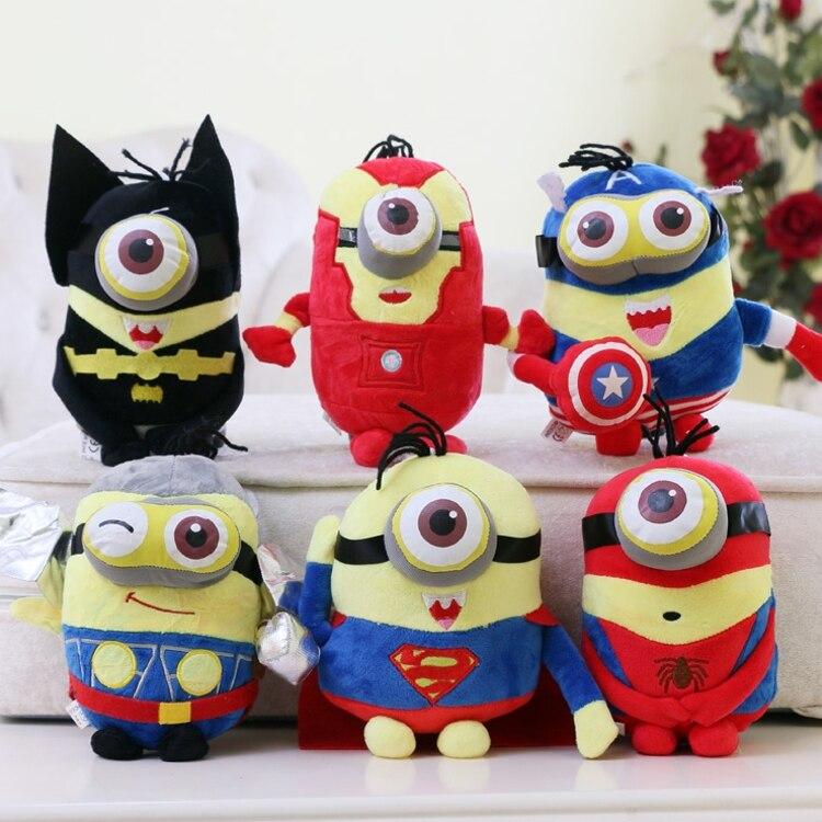 Candice guo plush toy stuffed doll cartoon movie pendant minions spiderman captain America Iron Man superman Thor Batman gift