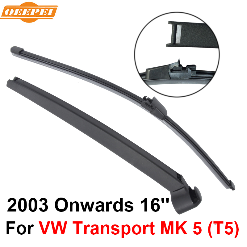 QEEPEI Rear Windscreen Wiper and Arm For VW Transport MK 5 (T5) 2003 Onwards 16 4 door VAN High Quality Iso9000 Natural Rubber