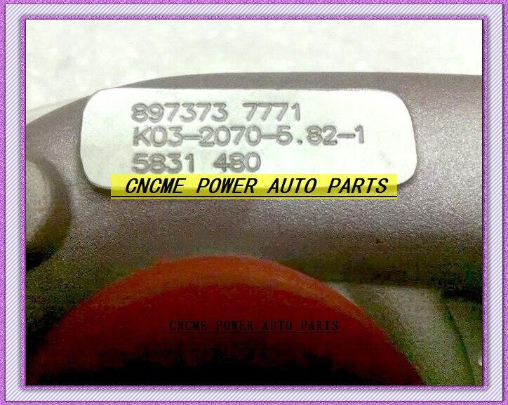 RHF5 8973737771 Turbocharger Turbo For ISUZU D-MAX H Warner 4JA1T (3)