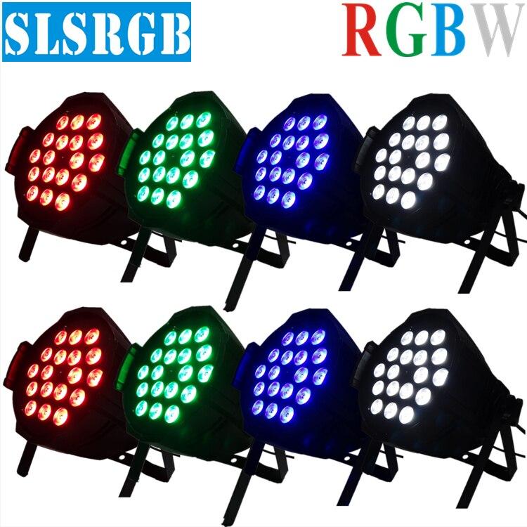 (8/lot)led par 64 light 18x12w rgbw 4in1 led par lamp dj equipment light Quad Led Par Lighting dmx512 Light 18pcs 12w 4in1 par