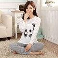 Женская Сна и Lounge пижамы femme Весной Осень Зима pijamas женщины пижамы установить Хлопок пижамы Костюм домашней Одежды женщин G1339