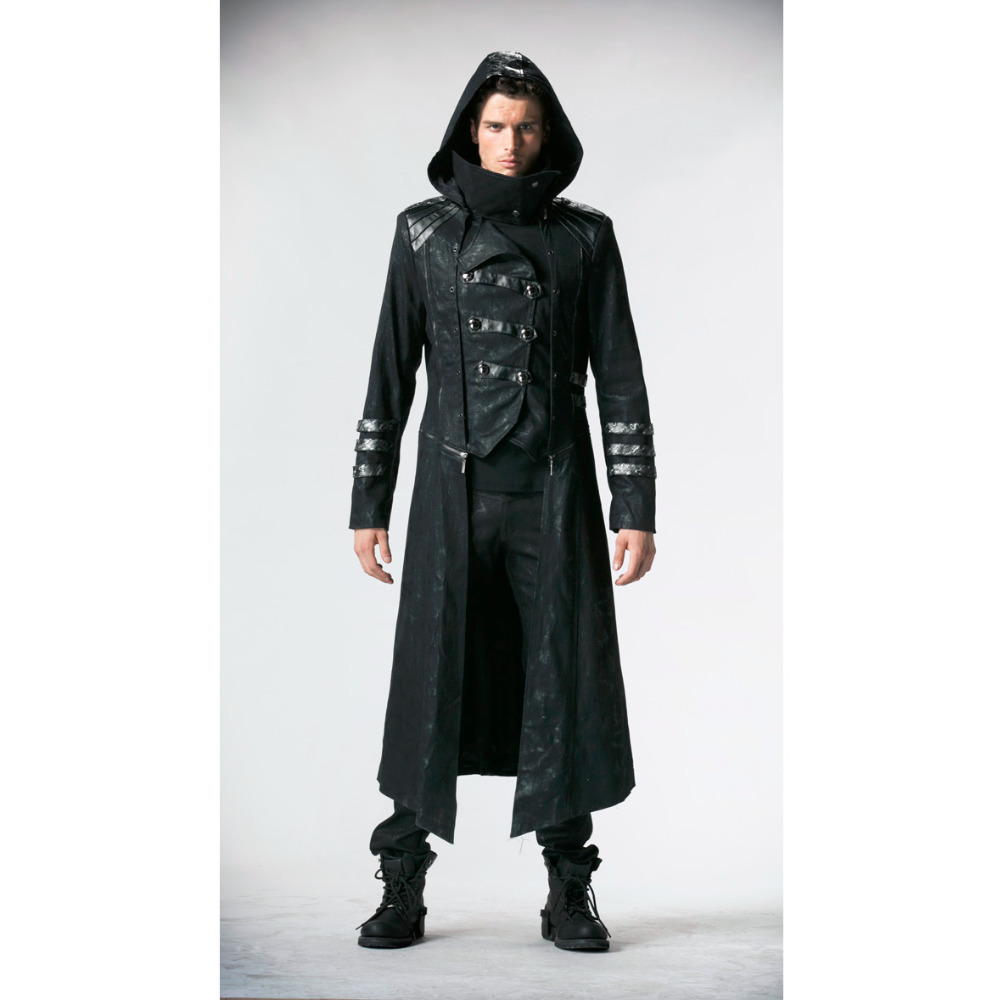 Punk Rave Fashion Mens Punk Streampunk Visual Kei Gothic Long&short Jacket Coat Hoodie Y364