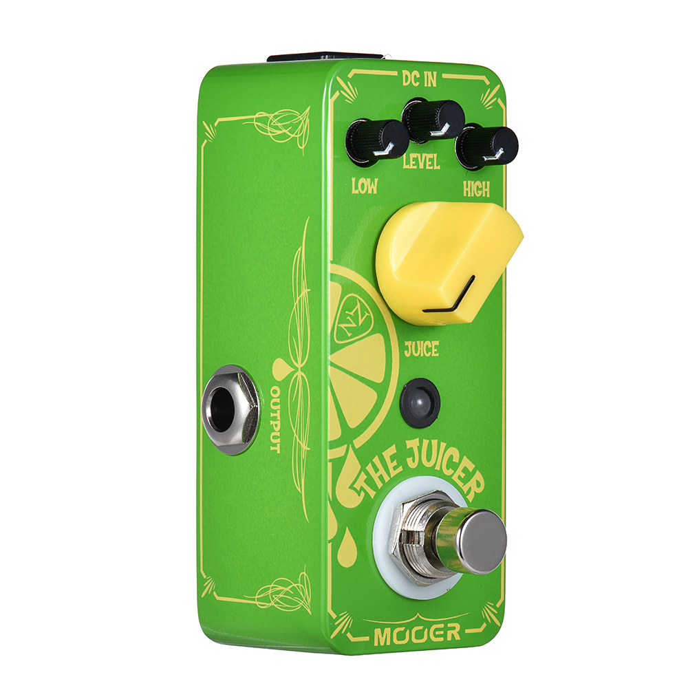 Mooer Mini The Juicer Neil Effects With Zaza Signature Overdrive Guitar Effect Pedal True Bypass mooer ensemble queen bass chorus effect pedal mini guitar effects true bypass with free connector and footswitch topper