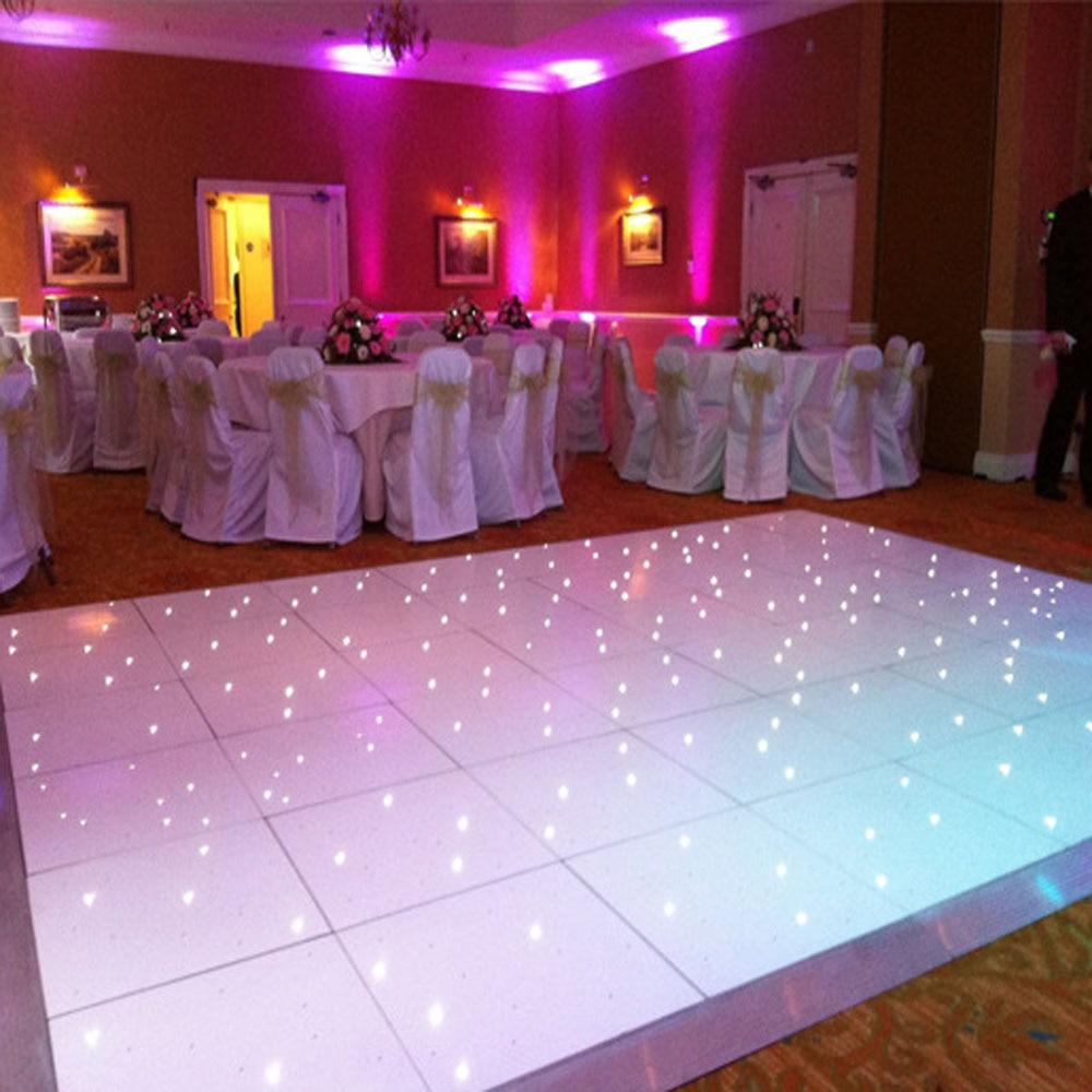 26*20FT LED Stage Floor Aluminum Frame Starlight Black Panel Dancing ...