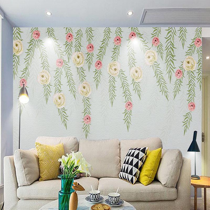 Customization Wallpapers for Walls 3D Rattan Flowers Modern Murals for Living Room Bedroom TV Background 3D Murals Wall Paper wallpaper for walls 3 d modern trdimensional geometry 4d tv background wall paper roll silver gray wallpapers for living room
