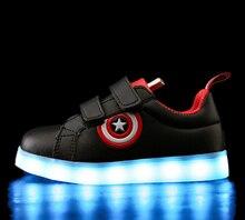 Size 26-37 Basket USB Charging Led Kids Shoes With Light Up Casual Kids Boys & Girls Shining Shoes Shining Shoe