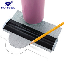 مقياس للملف الشخصي 150 مللي متر/6 بوصة مقياس كفاف المعادن الناسخ قياس وسم لقالب تزيين عميق نسخ الأدوات العامة