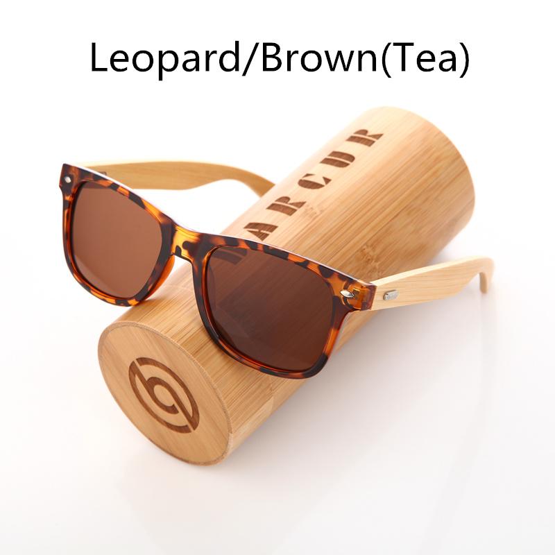 نظارة شمسية للرجال وللسيدات بعدسات بلورايزد واطار خشبي 10