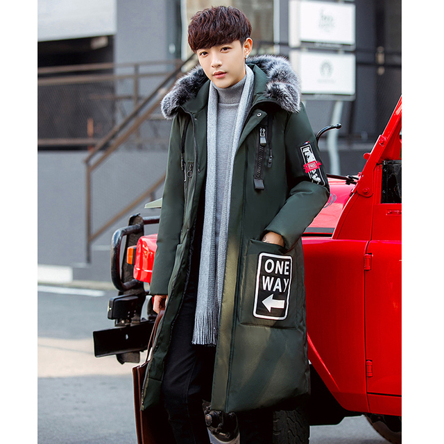 2018 New Long Can Withstand – 30 Degrees Winter Jacket Men Big Real Fur Collar Hooded Duck Down Jacket Big Size 2XL 3XL 918-79