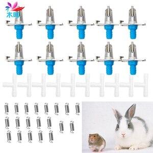 Новая автоматическая подача питьевой воды для сосков, желоб-водяной кролик грызуны 5/10 шт.
