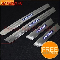 Free Shipping LED Stainless Steel Door Sill Scuff Plate For Volkswagen VW Passat B5 1999 2004