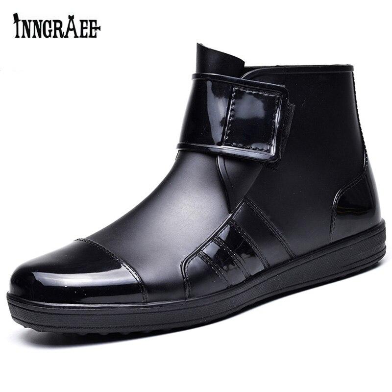 AnpassungsfäHig Männer Pvc Regen Stiefel Ankle Wasserdichte Schuhe Wasser Schuhe Männlichen Botas Gummi Kurzen Rain B1112