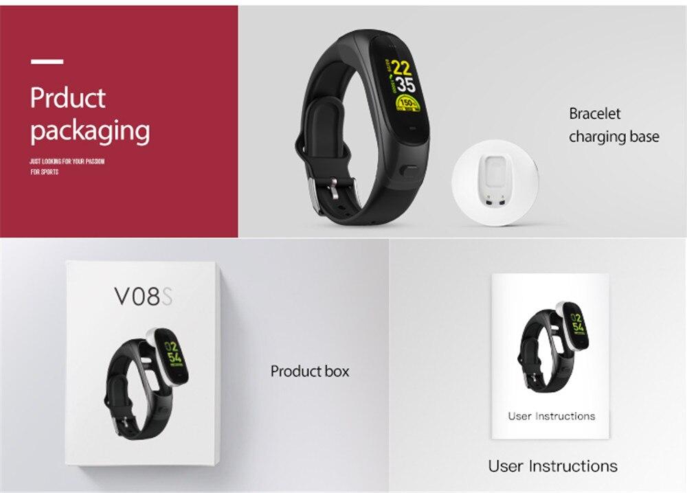 relógio Bluetooth pulseira 2 em 1 chamada