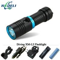 100M Underwater Diving Flashlight Led Scuba Flashlights Light Torch Diver CREE XM L2 Use 18650 OR