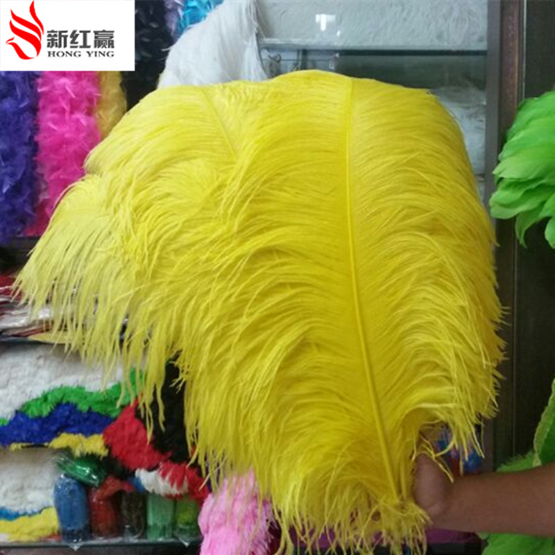 big pole ostrich feather yellow feathers 10 pcs 60 65cm 24 26 inches natural feather for