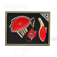 COHIBA Luxury Automotive Paint Cigar Lighter Cutter Ashtray Gift Set New