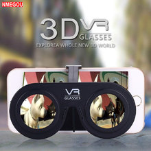 Mini Opvouwbare 3D Virtual Reality VR Bril voor Samsung Galaxy S8 S9 Plus IPhone X 7 8 6 6 s smartphone 3d Films 3 D Glazen Lens(China)