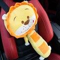 Venta caliente Niño Adulto León Amarillo Asiento Cinturones Relleno Estilo Mascotas Cubierta del Cinturón de seguridad Para Niños de Coches Cinturones de seguridad Pillow Toy Car Seat