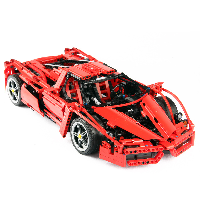 Racers Technic ENZO 1 10 Supercar Sports Car Building Blocks Kits Bricks Classic Model Toys For