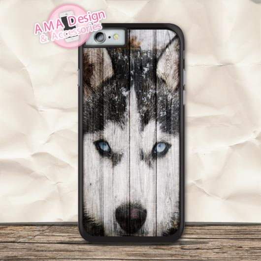 Siberian Husky Animal Lovely Protective Case For iPhone X 8 7 6 6s Plus 5 5s SE 5c 4 4s For iPod Touch