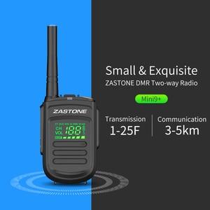 Image 4 - (2pcs) Zastone Mini9 plus DMR Mini Digital Walkie Talkie Portable UHF 400 470MHz HF Transceiver CB Radio