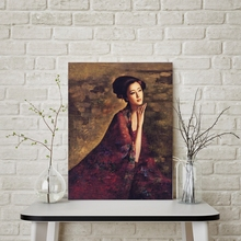 Hot Gift Oriental Beauty Portrait Oil Painting Print on Canvas Artwork Chinese The Ancient Wall Art for Living Room Decor