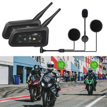 R6 1200 m 6 pilotos da motocicleta bt capacete interfone moto interfone fones de ouvido intercomunicador bluetooth talker para motocicleta(China)