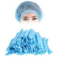 100pcs Microblading Accesories 눈썹 문신을위한 영원한 메이크업 처분 할 수있는 머리 그물 살균 모자