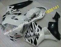 Hot Sales,For Honda F5 Fairing CBR600RR 03 04 CBR600 RR CBR 600RR 2003 2004 White Black Motorcycle Fairing (Injection molding)