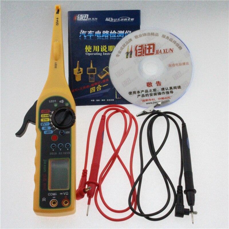 Nueva Línea de Automoción Eléctrica Multímetro/Detector Electricidad e Iluminación 3 en 1 Herramienta de Reparación de Automóviles (Rojo) Auto Probador de circuitos