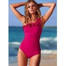 Women One Piece Swimsuit Plus size Swimwear flouncing Mesh One Shoulder Bathing suit oversize female Monokinis Beachwear water