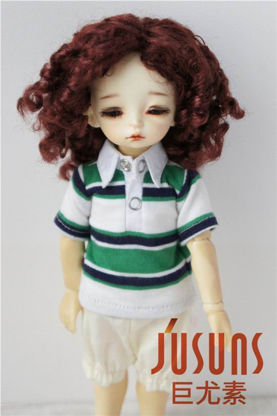JD001 15-18CM 1/6 YOSD doll wigs 6-7inch Synthetic mohair doll hair Unisex Medium length wave BJD wigs