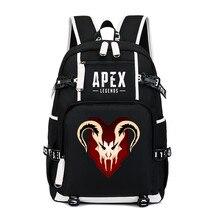 Sac à dos de légende Apex pour Cosplay, sac de voyage à bandoulière pour ordinateur portable et adolescents, sacs décole pour étudiants, dessin animé