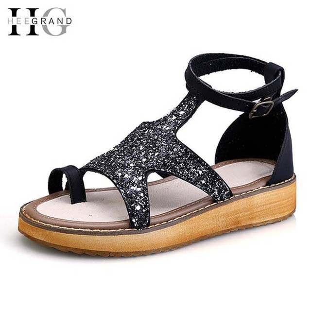 5fec5a7a7055 HEE GRAND Gitter Platform Gladiator Sandals Summer Style Creepers Flip  Flops Casual Shoes Woman Slip On