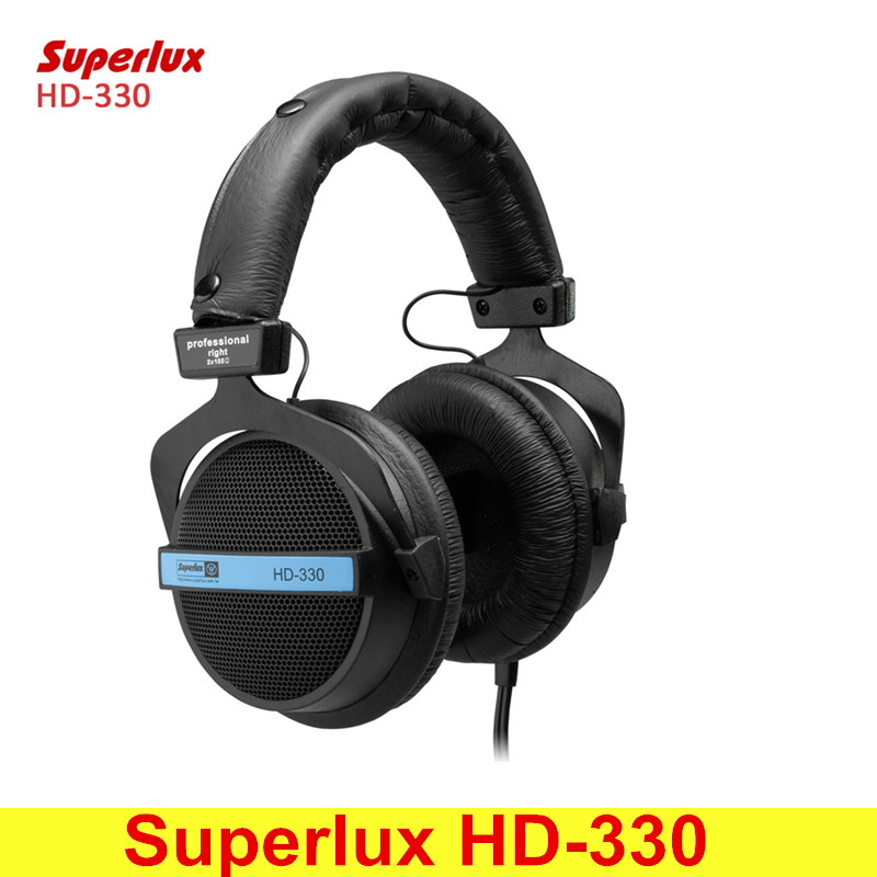 Superlux HD-330 Audiophile HiFi Stereo Headphones Semi-open Dynamic Clear Sound Soft Earmuff Single-sided Noise Cancelling
