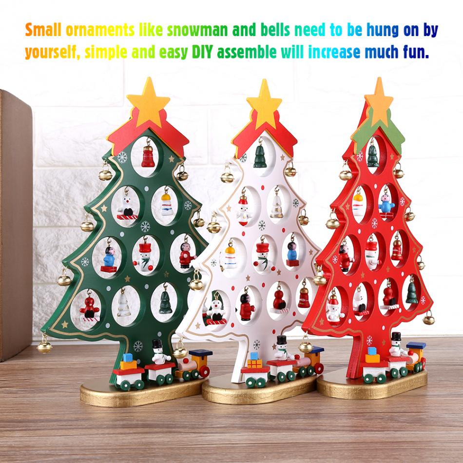 Diy wooden cartoon christmas tree decorations ornaments ornament 1 x diy christmas tree solutioingenieria Image collections