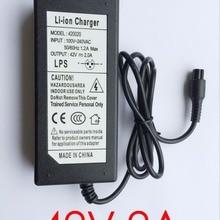 100 шт. 42 в 2A Lipo зарядное устройство самокат баланс зарядное устройство для электрического скутера самобалансирующийся скутер зарядка умная защита