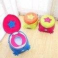 Calças de Treinamento Bacio bebé Higiênico Plástico Não-deslizamento Crianças Assento Do Vaso Sanitário Dobrável Protable Viagem Cadeirinha Infantil Crianças Pee Instrutor