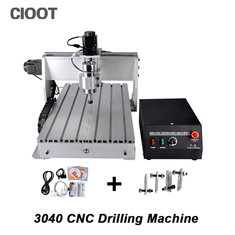 3040 3 Axis CNC Router Engraving Machine Ballscrew CNC Engraver Drilling Milling Machine With 300W/500W Spindle cnc 5axis a aixs rotary axis t chuck type for cnc router cnc milling machine best quality