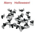 Best Seller Free Shipping 20 PC Halloween festival funny Realistic Plastic Black Spider Joking Toys for kids or decoration Aug3