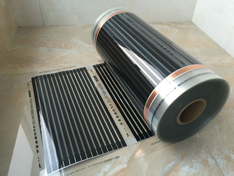 Belgium DHL Shipping Free 0.5M*100M (50 Sq Meter) Underfloor Floor Heating Films With Accessories AC220V 220W/Sq Meter