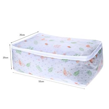 Flamingo Shape Quilt Storage Bag Home Clothes Pillow Blanket Travel Luggage Organizer Damp-proof Sorting 5