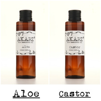 AKARZ Famous brand natural aloe castor essential oil natural aromatherapy high capacity skin body care massage spa 100ml*2