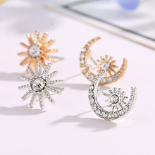 New  Star Moon Earrings Women Fashion Korean Temperament Earring Personality stud Jewelry Exquisite