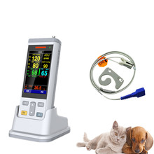 Free Shipping Veterinary Vital Sign Monitor Clinic Patient Monitor Hospital Vital Sign Monitor with Spo2/NIBP/Temperature contec 08a vet digital blood pressure monitor veterinary animal nibp spo2 probe