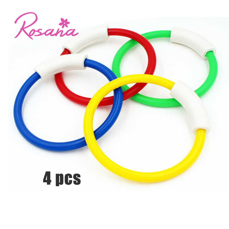 4pcs Summer Diving Ring Swimming Pool Toy Accessory Kid Beach Underwater Sport Ring Diving Buoys four loaded launch Toy Fun Game