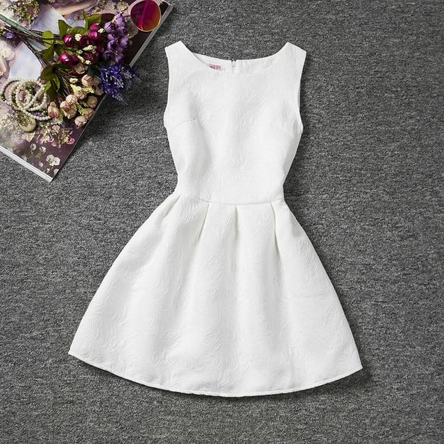 Verano estilo blanco princesa Vestidos adolescente vestido para la ...