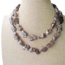 Длинное ожерелье из натурального пресноводного жемчуга 100%